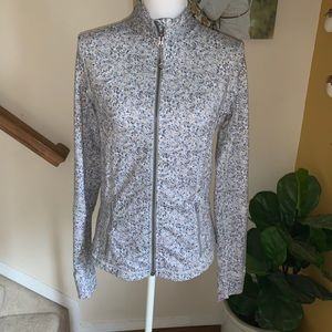 Lululemon Gray tan Print full zip jacket size 8